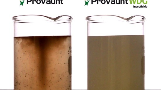 Enhanced mixing of Provaunt WDG insecticide provides powerful turf pest control